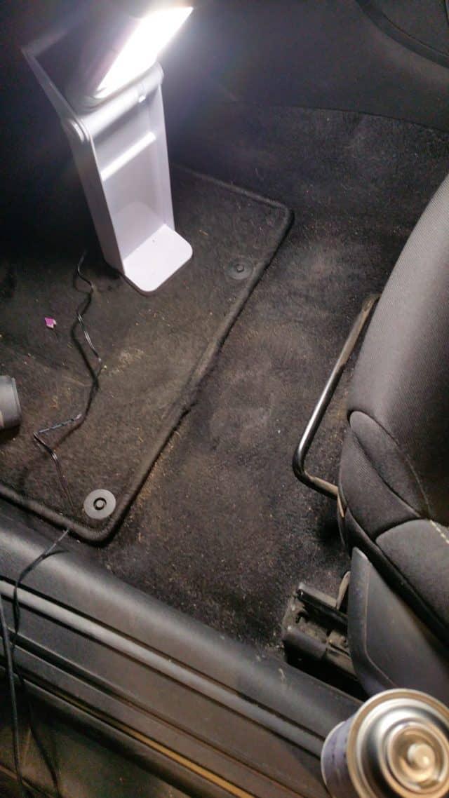 Herstelwerkzaamheden, tapijt, auto, boot, scheur