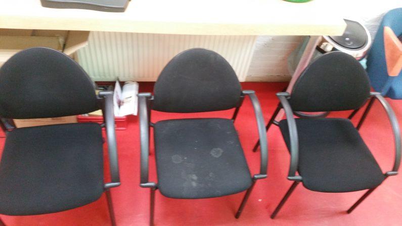 stoelen meubilair kantoor werk kantine reinigen
