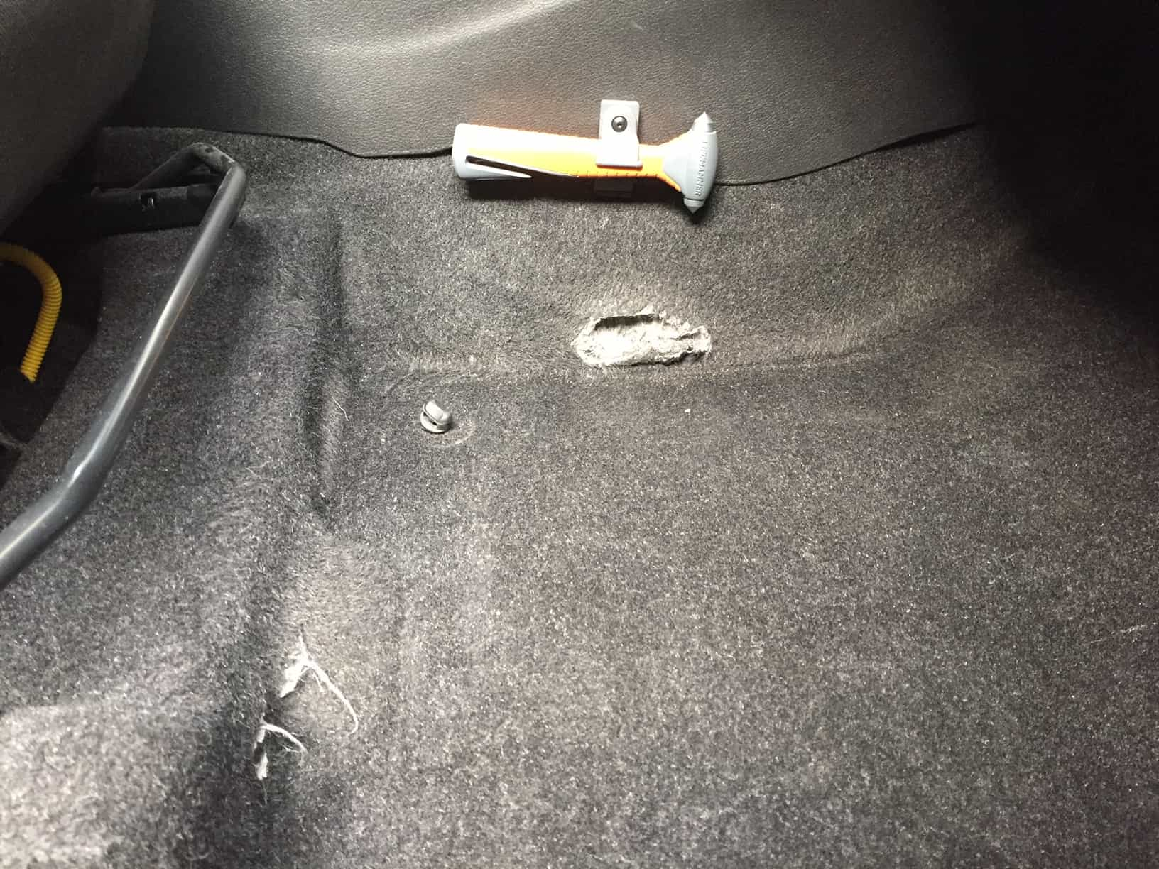 auto, schade, herstel, interieur, tapijt